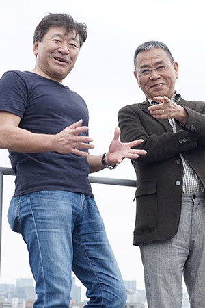 山本一力さんと鈴木光司さん