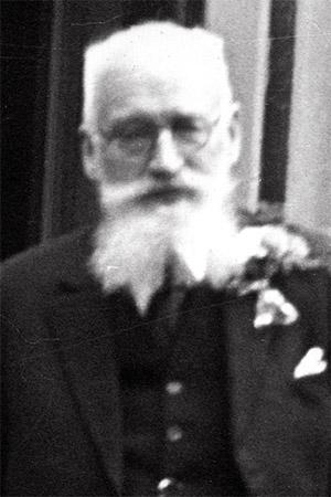 76、7歳の祖父エフベルト・エングベルツ。金婚式の日に撮影。