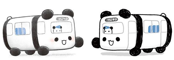 ▲左が絵本の、右はアニメのタッチ。