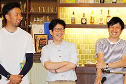 左から内田大樹さん、広辺和隆さん、大河原悠哉さん