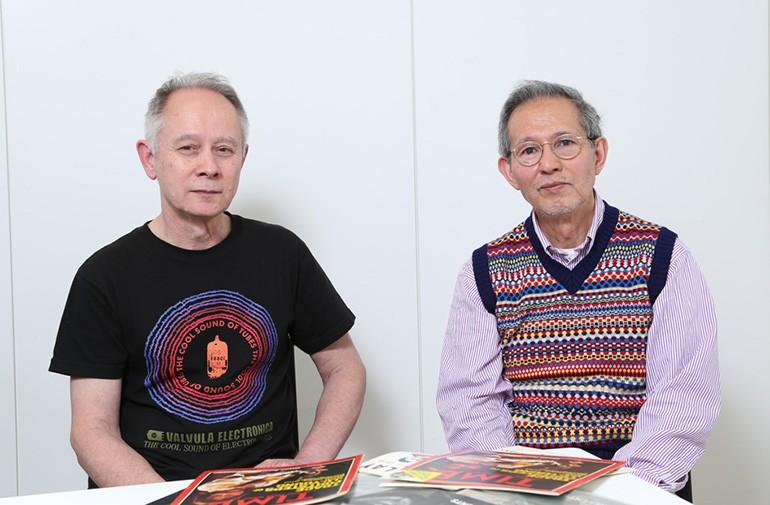 麻田浩さん(右)とピーター・バラカンさん(左)。40年以上に渡って日本と海外の音楽をつないできた生き字引だ