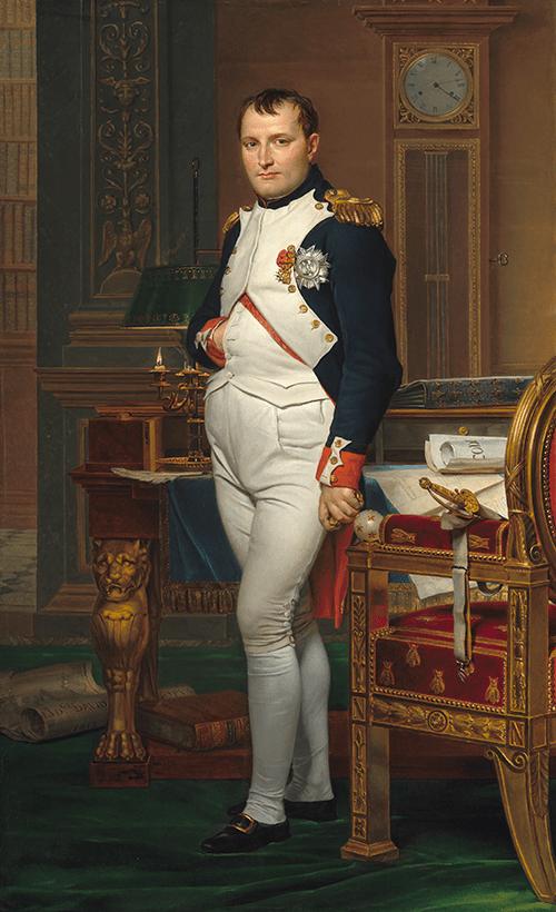 ダヴィッド《書斎のナポレオン》1812年、ワシントン、ナショナル・ギャラリー・オヴ・アート蔵