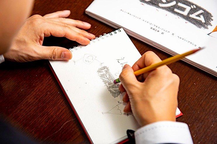 タイコンデロガを使って、表紙絵の模写。